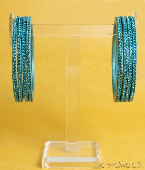 Turquoise Blue – Colour to Colour Lac Bangle