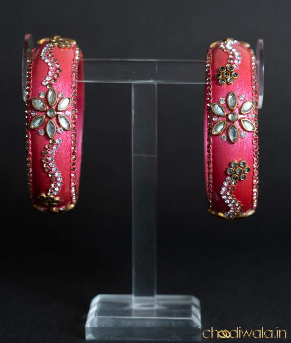 Pink – Kundan Heavy Kada Round
