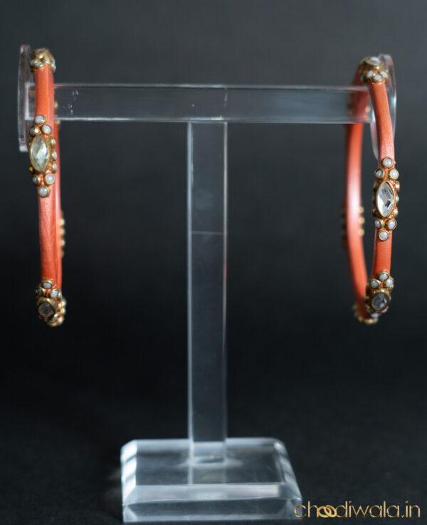 Light Copper – Kundan & Moti Heavy Lac Choodi