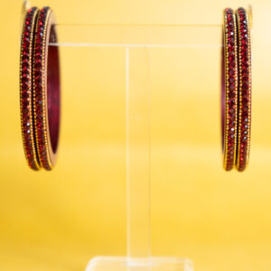 Maroon - Chain Lac Choodi with Embedded Stones