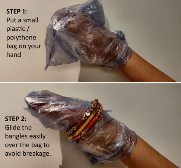 How to wear Bangles